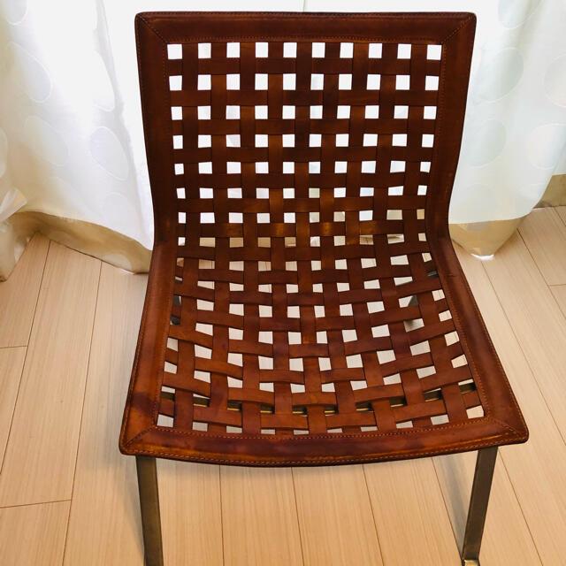 ACTUS(アクタス)のACTUS✳︎アクタス✳︎レザーチェア インテリア/住まい/日用品の椅子/チェア(スツール)の商品写真