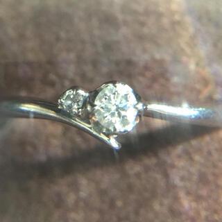 4℃ - 上品  ダイヤモンド プラチナリング  6号  華奢リング