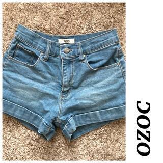 オゾック(OZOC)の【美品】OZOC♡オゾック デニムショートパンツ ロールアップ 裾折り返し(ショートパンツ)