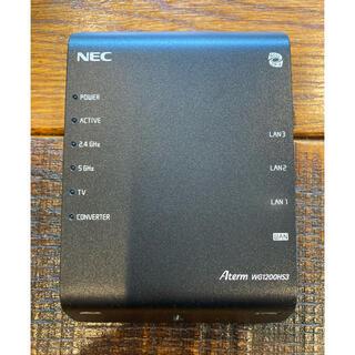 エヌイーシー(NEC)のAterm-WG1200HS3(PC周辺機器)