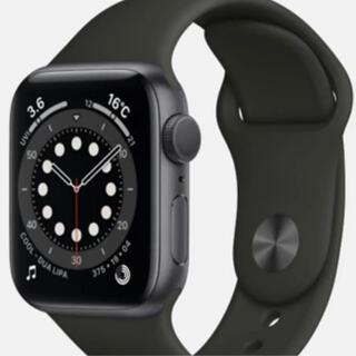 Apple Watch - Apple Watch 6 ブラックスポーツ スペースグレイ