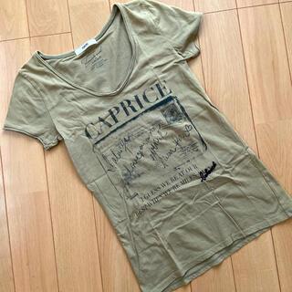 オゾック(OZOC)のOZOC カーキ ロゴTシャツ(Tシャツ(半袖/袖なし))