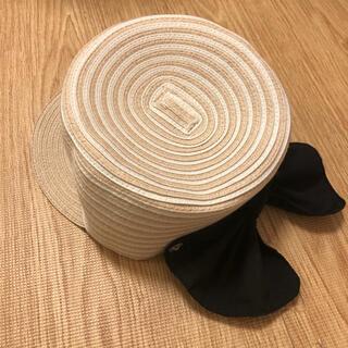 プティマイン(petit main)のプティマイン 日よけリボンキャップ54cm(帽子)