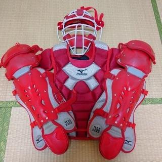 ミズノ(MIZUNO)の一般軟式野球 キャッチャー マスク プロテクター レガース 防具セット ミズノ(防具)
