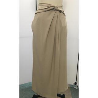 フレイアイディー(FRAY I.D)のFRAY ID ウエストリボンスカート ベージュ 新品未使用タグ付き(ロングスカート)