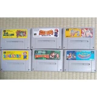 スーパーファミコン(スーパーファミコン)の激安!任天堂スーパーファミコンカセット6本セット!(家庭用ゲームソフト)
