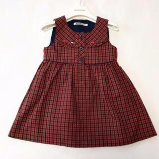 familiar - ファミリア♡チェックワンピース♡ジャンパースカート♡100