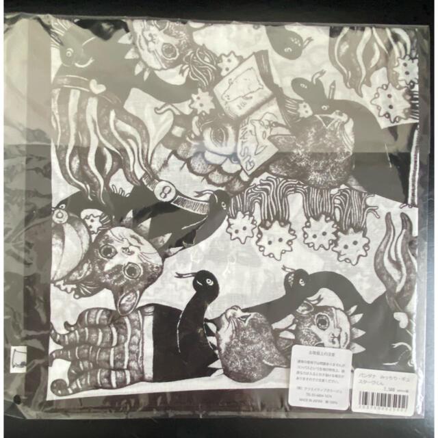 ヒグチユウコ バンダナ みっちり•ギュスターヴくん レディースのファッション小物(バンダナ/スカーフ)の商品写真