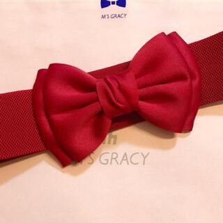 M'S GRACY - 新品♡リボンベルト♡赤♡エムズグレイシー お好きな方にも♡