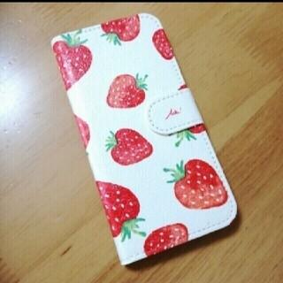 ♪スマホケース iPhone6s/6 苺 いちご柄 デコパージュ♪