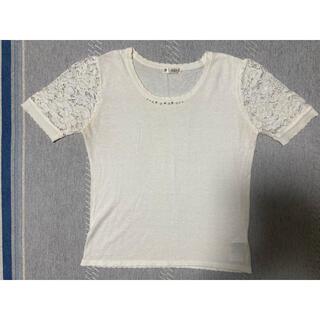 アクシーズファム(axes femme)の胸元ビジュ光るTシャツ(Tシャツ(半袖/袖なし))