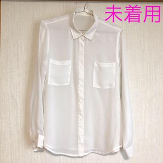 UNIQLO - UNIQLO シャツ ブラウス シフォン シースルー 羽織りとしても(^^)