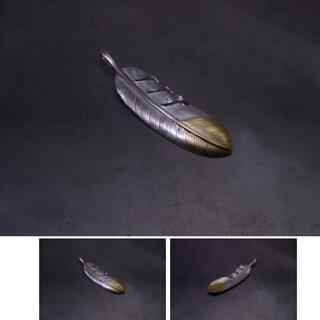 goro's - 鷲見太郎 L-size feather top-01 / k18&925
