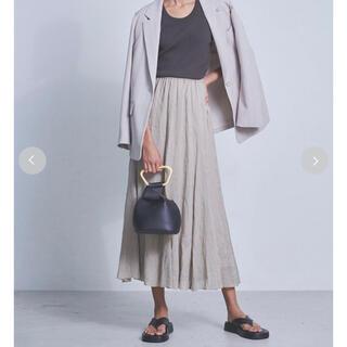 Mila Owen - milaowen ウエストゴムラミーフレアマキシスカート size1