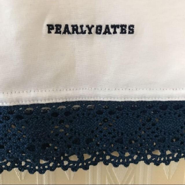 PEARLY GATES(パーリーゲイツ)のお値下げ!新品 パーリーゲイツ レディース ポロシャツ スポーツ/アウトドアのゴルフ(ウエア)の商品写真
