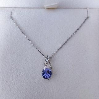 STAR JEWELRY - スタージュエリー ダイヤモンド×タンザナイト ネックレス Pt950 2.4g