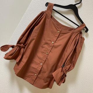 GRACE CONTINENTAL - グレースコンチネンタル 新品タグ付き オフショル 肩出し 袖リボン レンガ色