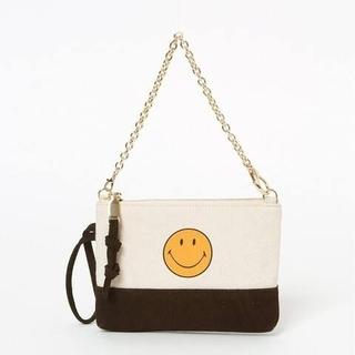 ドゥーズィエムクラス(DEUXIEME CLASSE)の新品タグ付【GOOD GRIEF!】SMILE 2トーンポーチ(ポーチ)