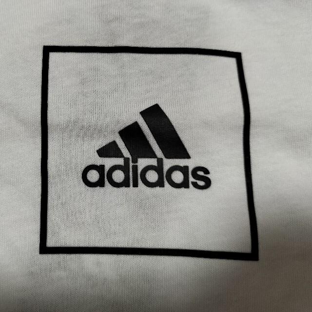 adidas(アディダス)の定価7458円‼️adidas サイズ L ロゴT+ハーフパンツ黒白L未使用 スポーツ/アウトドアのランニング(ウェア)の商品写真