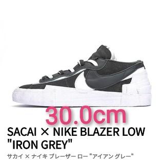 "sacai - 30.0cm サカイ × ナイキ ブレーザー ロー ""アイアン グレー"""