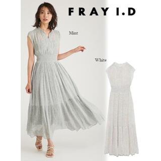 FRAY I.D - frayid ラインアート割線シフォンワンピース