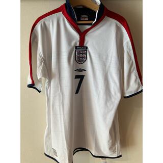 アンブロ(UMBRO)のイングランド代表 England ホームユニフォーム  BECKHAM ベッカム(ウェア)