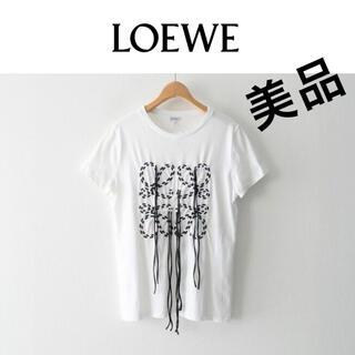 LOEWE - 美品LOEWE アナグラムデザインTシャツ フリンジ ロゴ ロエベ tシャツ