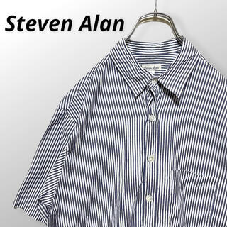 steven alan - スティーブンアラン  Steven Alan 半袖シャツ ストライプ L