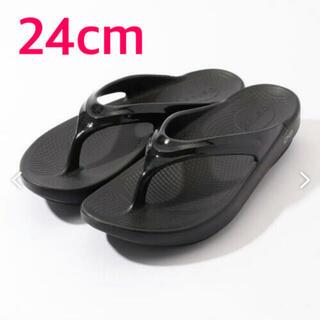 JOURNAL STANDARD - 新品 OOFOS OOlala 24cm ブラック 黒 M5/W7