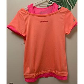 バボラ(Babolat)のバボラ★Babolat★ Lサイズ★蛍光オレンジ蛍光ピンク 半袖Tシャツ 半袖(ウェア)