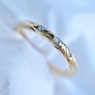 agete - アガット k10 リング ダイヤモンド agete 指輪