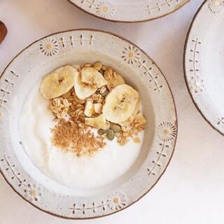 よしざわ窯♡oldwhite花のスープ皿小2客