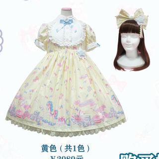 Angelic Pretty - dreamy ベビールーム ワンピース カチューシャ セット