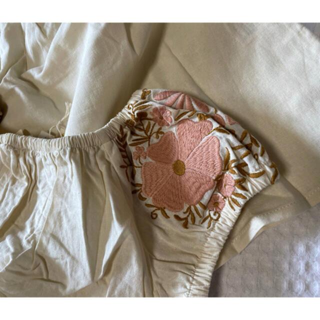 APO レトロ 刺繍 トップス スカートセット  キッズ/ベビー/マタニティのキッズ服女の子用(90cm~)(スカート)の商品写真