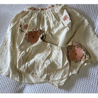 APO レトロ 刺繍 トップス スカートセット