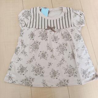 新品 花柄 半袖 Tシャツ 80cm