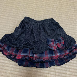 ハッカキッズ(hakka kids)の33) キッズ フリル スカート ショートパンツ 100(スカート)