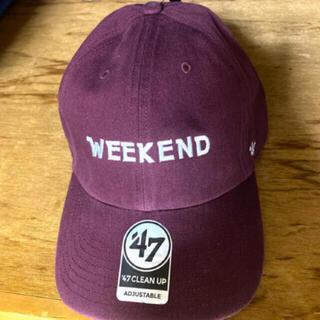 COMOLI - 47 weekend NEAT バーガンディ CAP キャップ