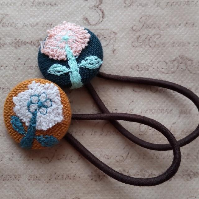 (28)❁2個セット❁  ミナペルホネン くるみボタン       ヘアゴム ハンドメイドのファッション小物(その他)の商品写真