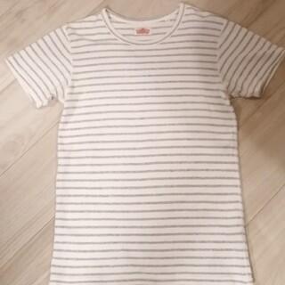 ハリウッドランチマーケット(HOLLYWOOD RANCH MARKET)のハリラン ストレッチフライス 白×グレー(Tシャツ/カットソー(半袖/袖なし))