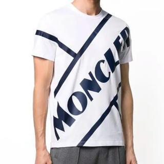 MONCLER - ★新品未使用★ MONCLER Tシャツ ビッグロゴ M ホワイト 入手困難