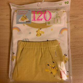ユニクロ(UNIQLO)のユニクロ パジャマ(半袖) ポケモン ピカチュウ 120センチ イエロー(パジャマ)