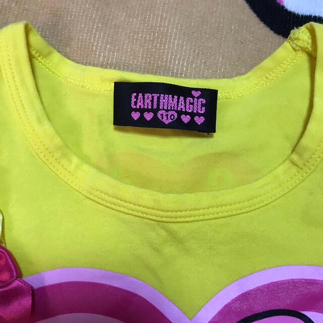 EARTHMAGIC(アースマジック)のnアースマジックTシャツ110 キッズ/ベビー/マタニティのキッズ服女の子用(90cm~)(Tシャツ/カットソー)の商品写真
