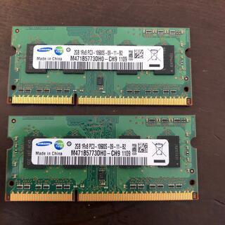 SAMSUNG - ノートPC メモリ PC3-10600 Samsung 2GB×2枚