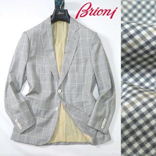 KITON - ブリオーニ  59万最高級ウールグレーチェックジャケット