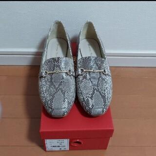オリエンタルトラフィック(ORiental TRaffic)のオリエンタルトラフィック一回着用 ビットローファーパイソン(ローファー/革靴)