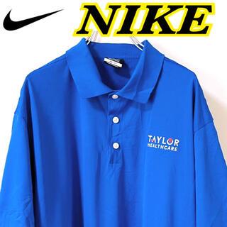 ナイキ(NIKE)のナイキ ゴルフ メンズ プルオーバー 半袖 ポロシャツ XL USA 古着(ポロシャツ)