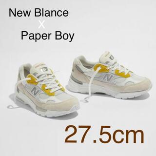 ニューバランス(New Balance)のNEW BALANCE x PAPER BOY  992 27.5cm(スニーカー)
