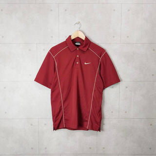 ナイキ(NIKE)のナイキゴルフ NIKE 小豆色 ポロシャツ ワンポイント 刺繍ロゴ(ポロシャツ)