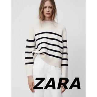 ザラ(ZARA)の新品 ZARA ザラ 5990円 ストライプニットセーター(ニット/セーター)